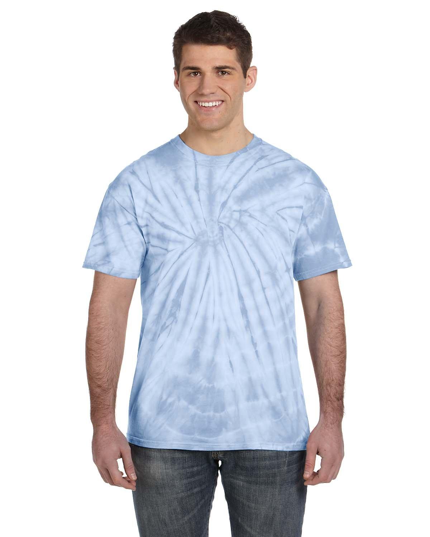 Tie-Dye Adult 5.4 oz. 100% Cotton Spider T-Shirt SPIDER BABY BLUE