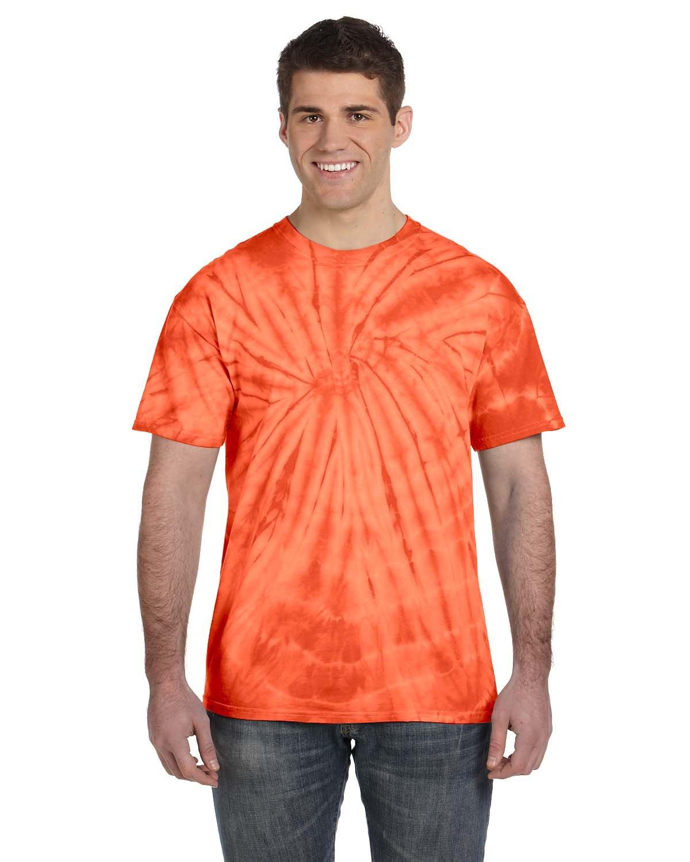 Tie-Dye Adult 5.4 oz. 100% Cotton Spider T-Shirt SPIDER ORANGE
