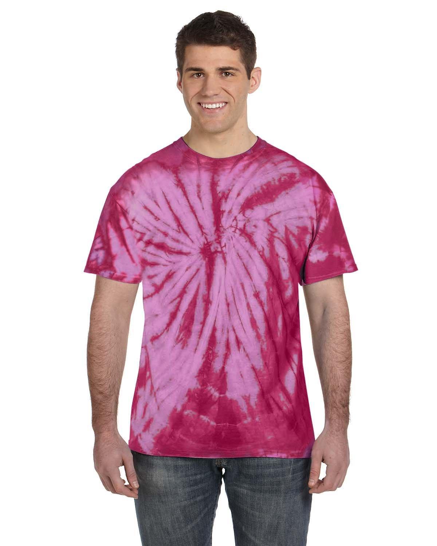 Tie-Dye Adult 5.4 oz. 100% Cotton Spider T-Shirt SPIDER PINK