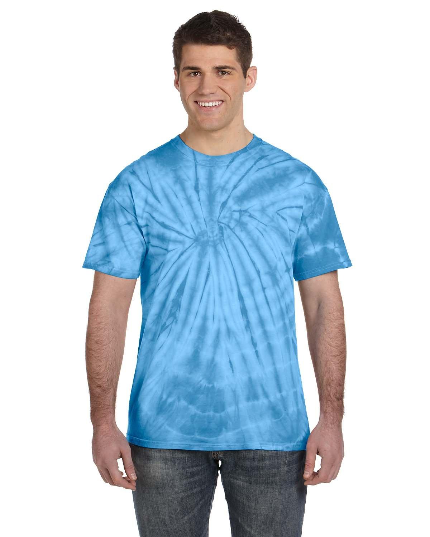 Tie-Dye Adult 5.4 oz. 100% Cotton Spider T-Shirt SPIDER TURQUOISE