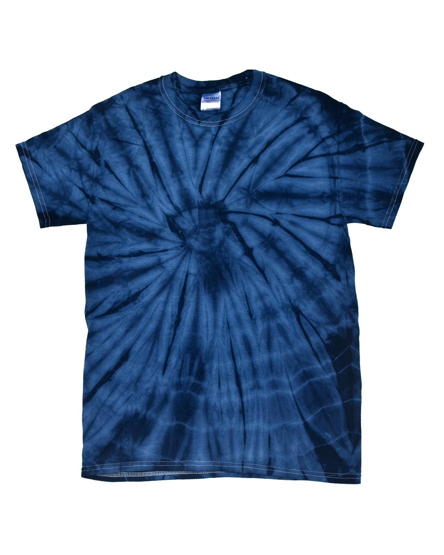 Tie-Dye Adult 5.4 oz. 100% Cotton Spider T-Shirt SPIDER NAVY