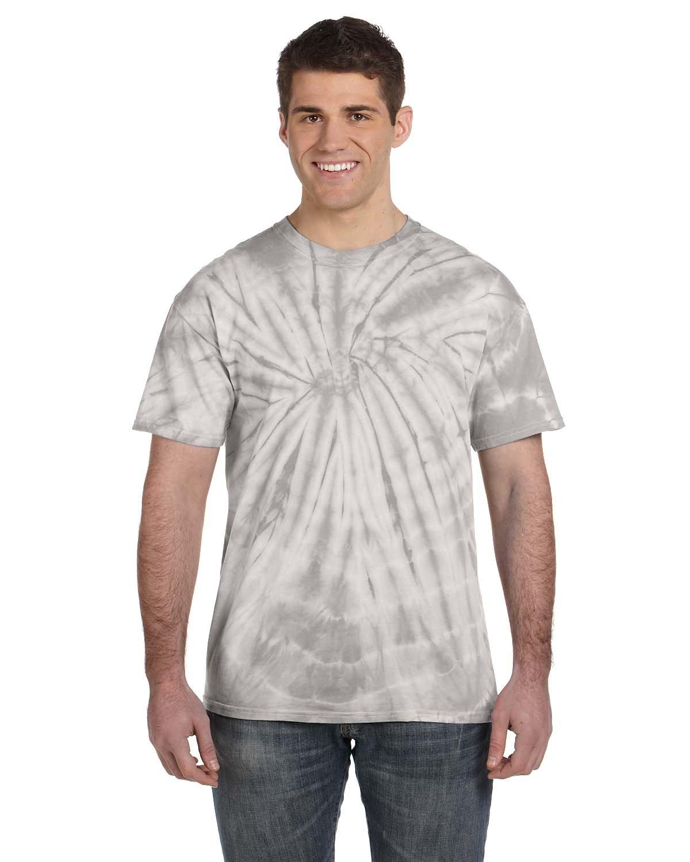 Tie-Dye Adult 5.4 oz. 100% Cotton Spider T-Shirt SPIDER SILVER
