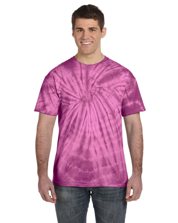 Tie-Dye Adult 5.4 oz. 100% Cotton Spider T-Shirt SPIDER PLUM