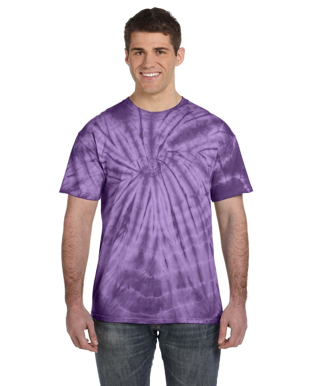 Tie-Dye Adult 5.4 oz. 100% Cotton Spider T-Shirt SPIDER PURPLE