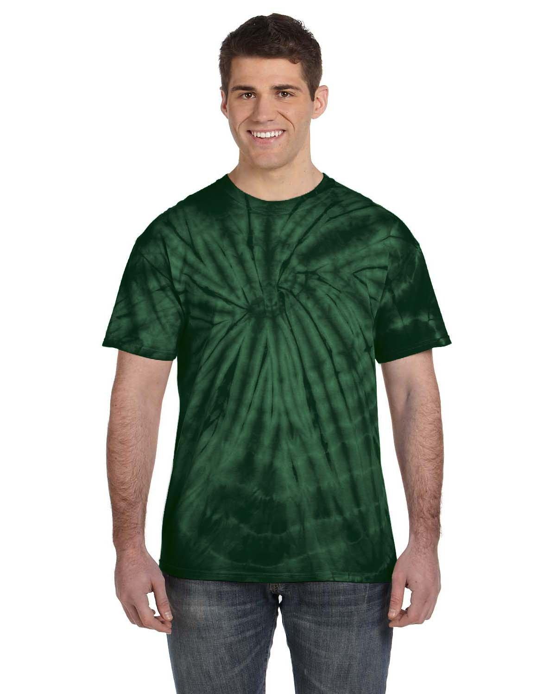 Tie-Dye Adult 5.4 oz. 100% Cotton Spider T-Shirt SPIDER GREEN