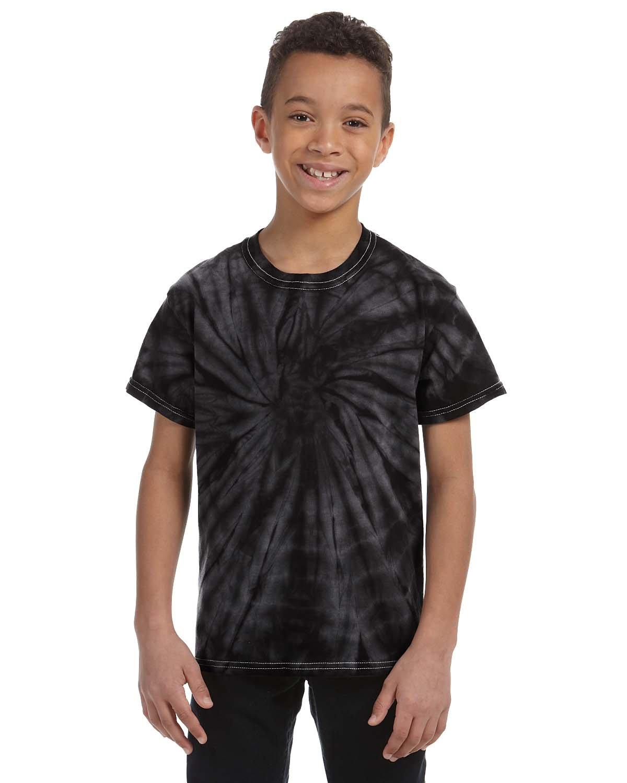 Tie-Dye Youth 5.4 oz. 100% Cotton Spider T-Shirt SPIDER BLACK