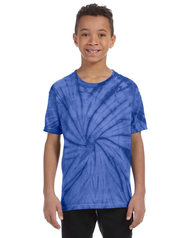 Tie-Dye Youth 5.4 oz. 100% Cotton Spider T-Shirt SPIDER ROYAL