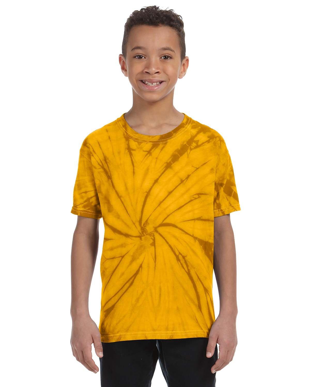 Tie-Dye Youth 5.4 oz. 100% Cotton Spider T-Shirt SPIDER GOLD