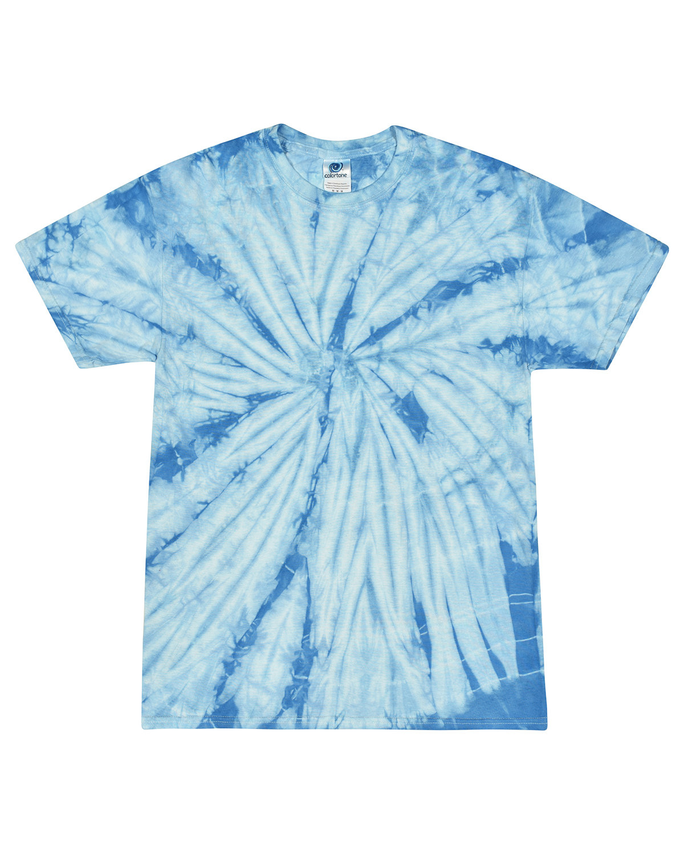 Tie-Dye Youth 5.4 oz. 100% Cotton Spider T-Shirt SPIDER BABY BLUE