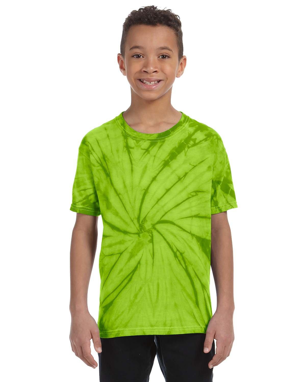 Tie-Dye Youth 5.4 oz. 100% Cotton Spider T-Shirt SPIDER LIME