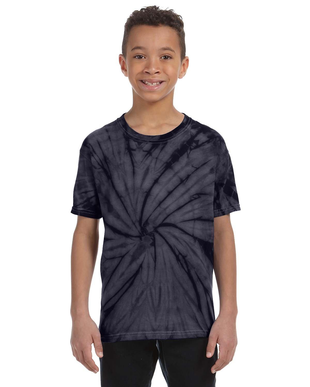 Tie-Dye Youth 5.4 oz. 100% Cotton Spider T-Shirt SPIDER NAVY