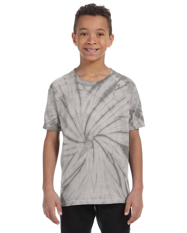 Tie-Dye Youth 5.4 oz. 100% Cotton Spider T-Shirt SPIDER SILVER