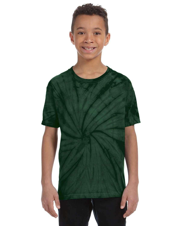 Tie-Dye Youth 5.4 oz. 100% Cotton Spider T-Shirt SPIDER GREEN