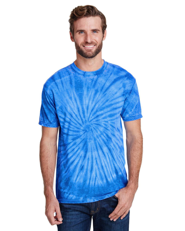 Tie-Dye Adult Burnout Festival T-Shirt ROYAL