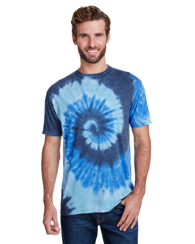 Tie-Dye Adult Burnout Festival T-Shirt SEA