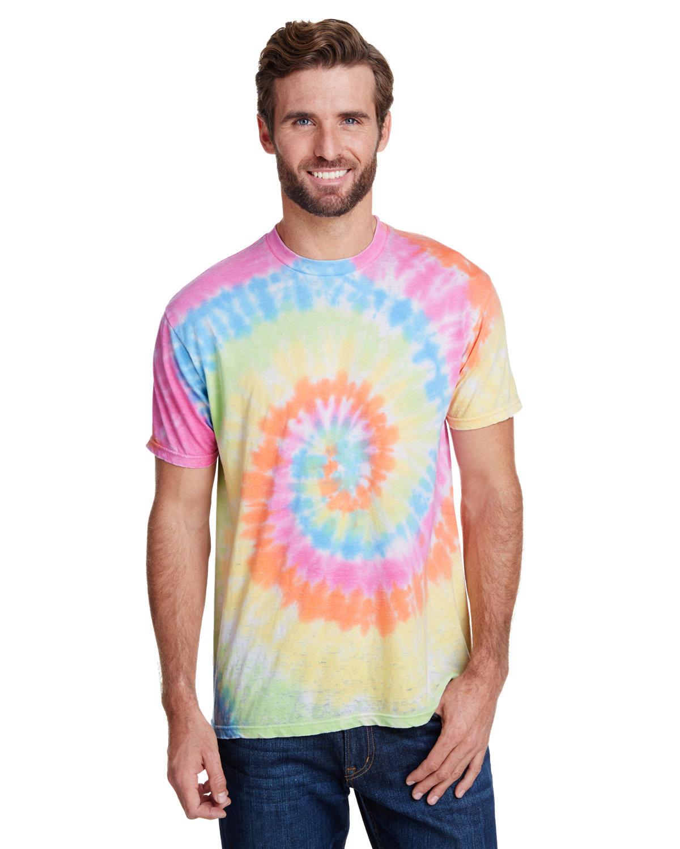 Tie-Dye Adult Burnout Festival T-Shirt PASTEL