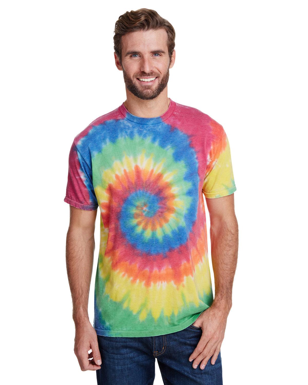Tie-Dye Adult Burnout Festival T-Shirt RAINBOW