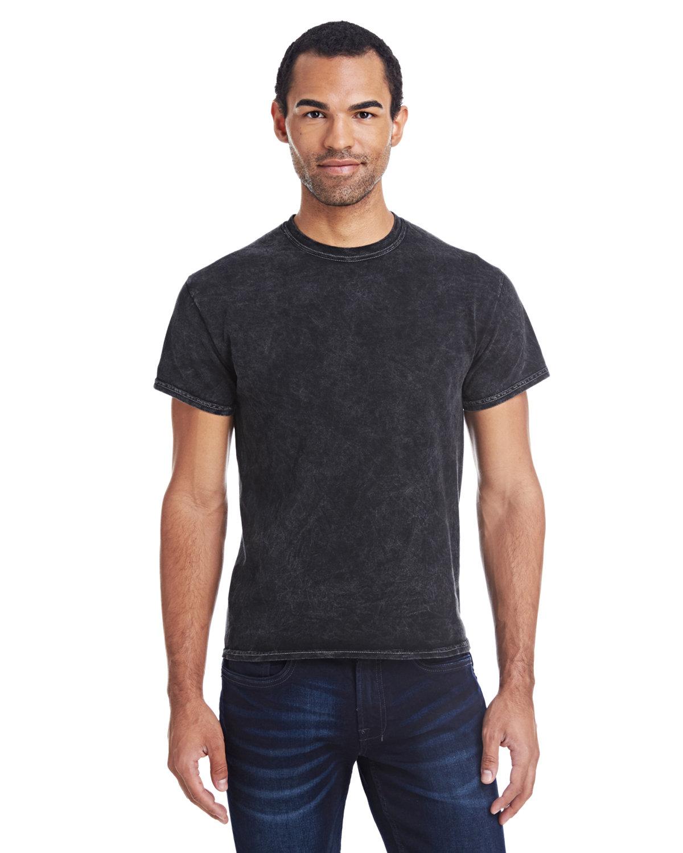Tie-Dye Adult 100% Cotton Vintage Wash T-Shirt MINERAL BLACK