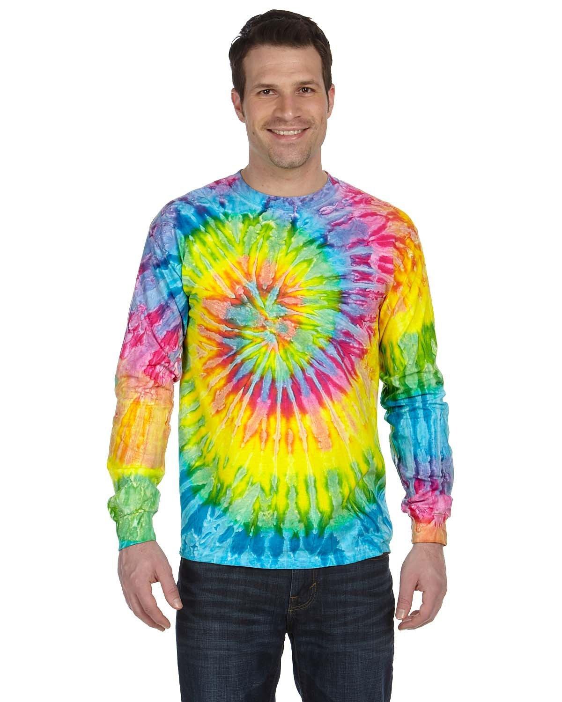 Tie-Dye Adult 5.4 oz. 100% Cotton Long-Sleeve T-Shirt SATURN