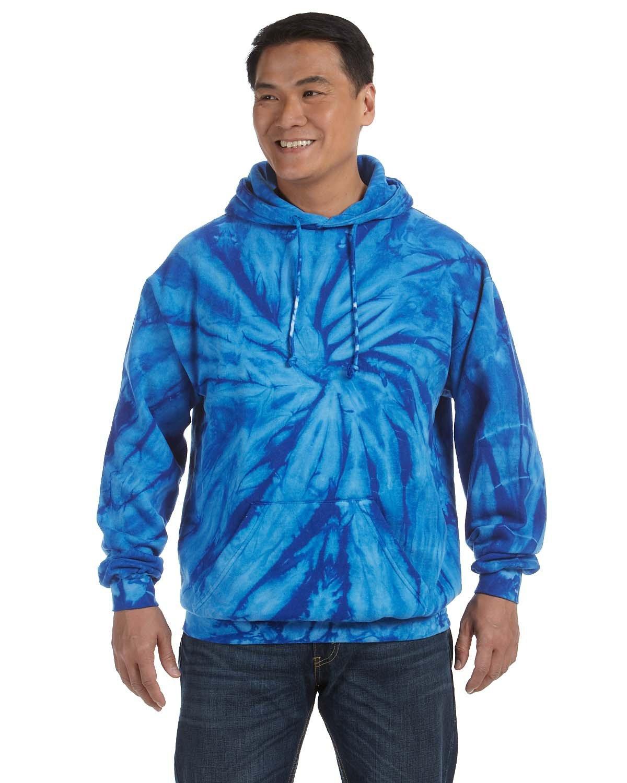 Tie-Dye Adult Tie-Dyed Pullover Hooded Sweatshirt SPIDER ROYAL