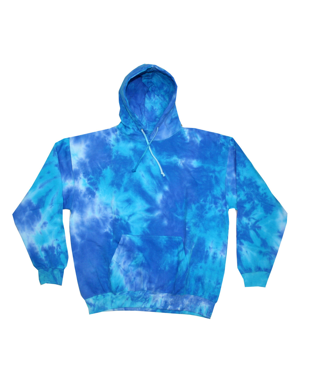 Tie-Dye Youth 8.5 oz. Tie-Dyed Pullover Hooded Sweatshirt BLUE MIX