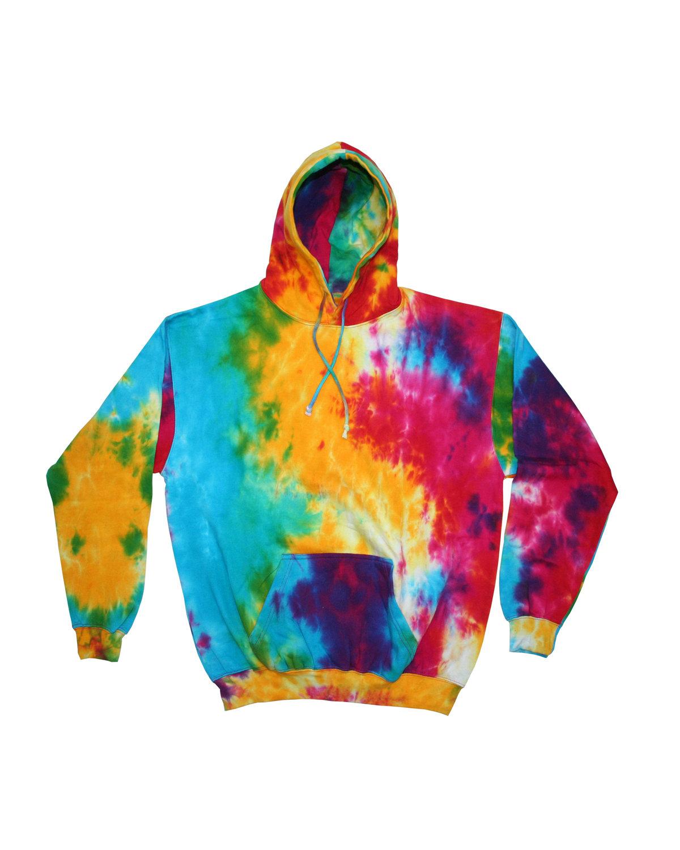 Tie-Dye Youth 8.5 oz. Tie-Dyed Pullover Hooded Sweatshirt MULIT RAINBOW