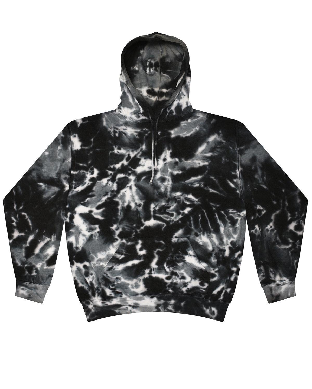 Tie-Dye Youth 8.5 oz. Tie-Dyed Pullover Hooded Sweatshirt MULTI BLACK