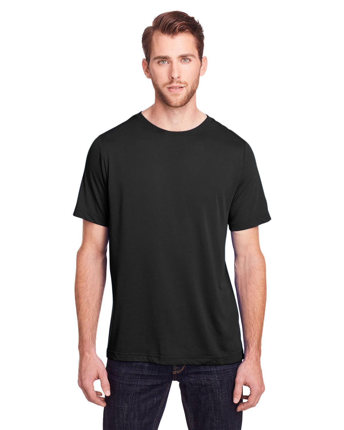 Core 365 Adult Fusion ChromaSoft Performance T-Shirt BLACK