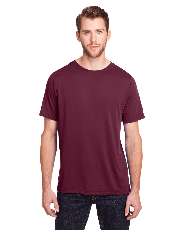 Core 365 Adult Fusion ChromaSoft Performance T-Shirt BURGUNDY