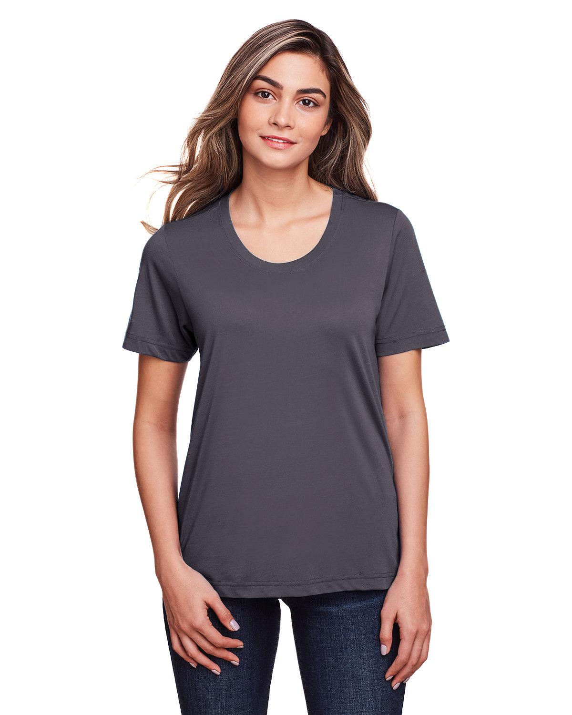 Core 365 Ladies' Fusion ChromaSoft™ Performance T-Shirt CARBON