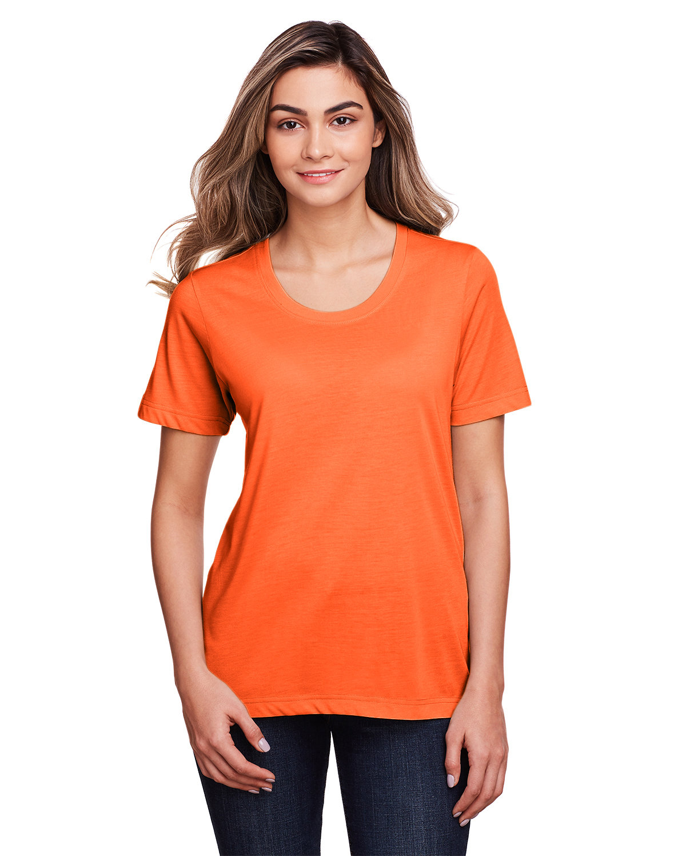 Core 365 Ladies' Fusion ChromaSoft™ Performance T-Shirt CAMPUS ORANGE