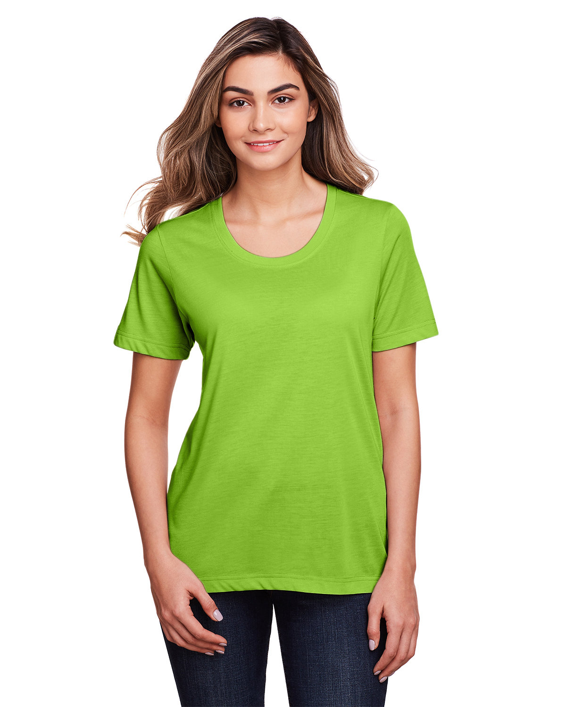 Core 365 Ladies' Fusion ChromaSoft™ Performance T-Shirt ACID GREEN
