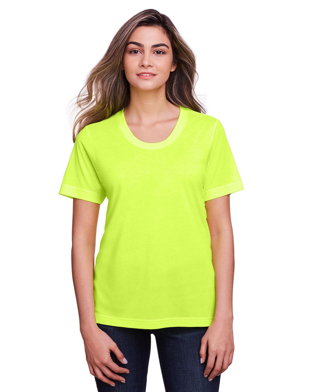 Core 365 Ladies' Fusion ChromaSoft™ Performance T-Shirt SAFETY YELLOW