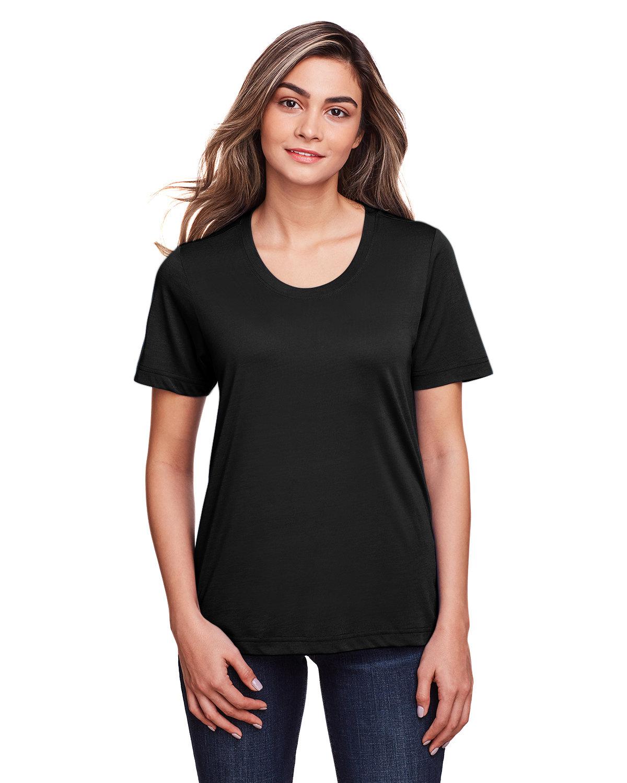 Core 365 Ladies' Fusion ChromaSoft™ Performance T-Shirt BLACK