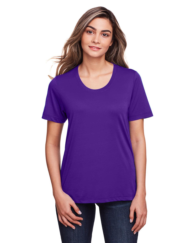 Core 365 Ladies' Fusion ChromaSoft™ Performance T-Shirt CAMPUS PURPLE