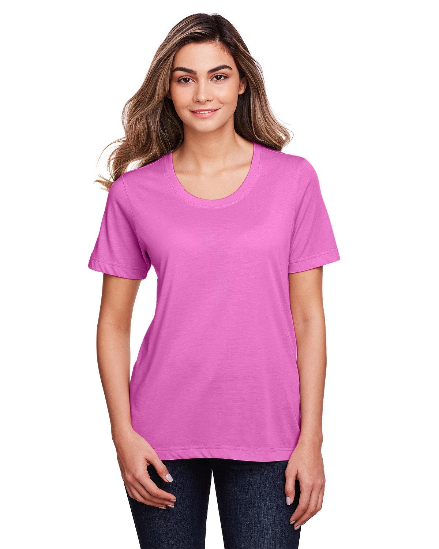 Core 365 Ladies' Fusion ChromaSoft™ Performance T-Shirt CHARITY PINK