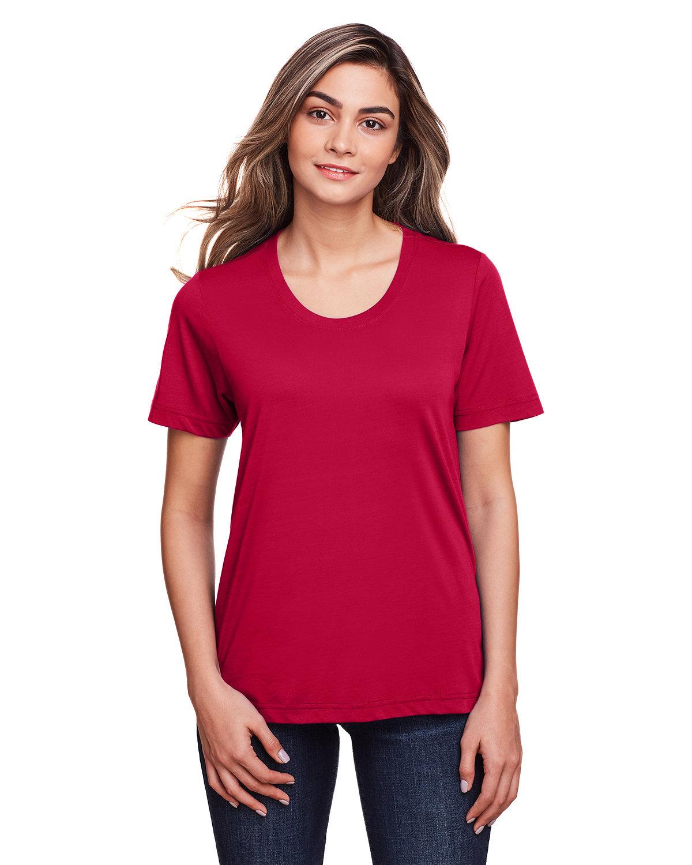 Core 365 Ladies' Fusion ChromaSoft™ Performance T-Shirt CLASSIC RED