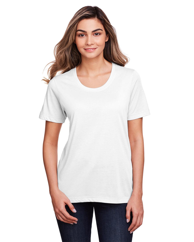 Core 365 Ladies' Fusion ChromaSoft™ Performance T-Shirt WHITE