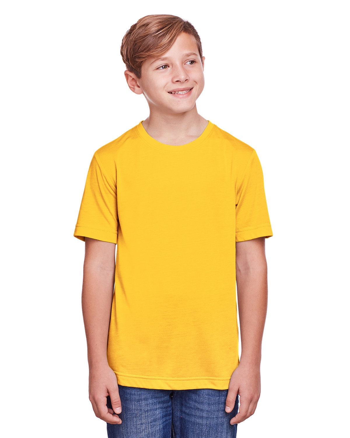 Core 365 Youth Fusion ChromaSoft Performance T-Shirt CAMPUS GOLD