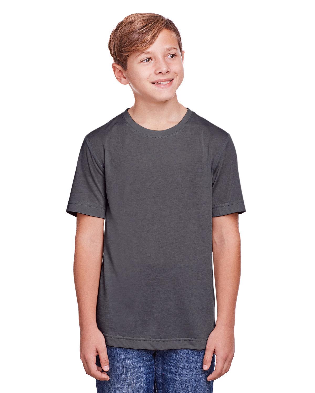 Core 365 Youth Fusion ChromaSoft Performance T-Shirt CARBON