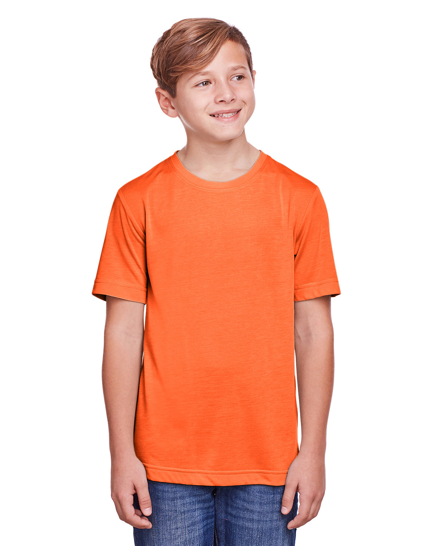 Core 365 Youth Fusion ChromaSoft Performance T-Shirt CAMPUS ORANGE