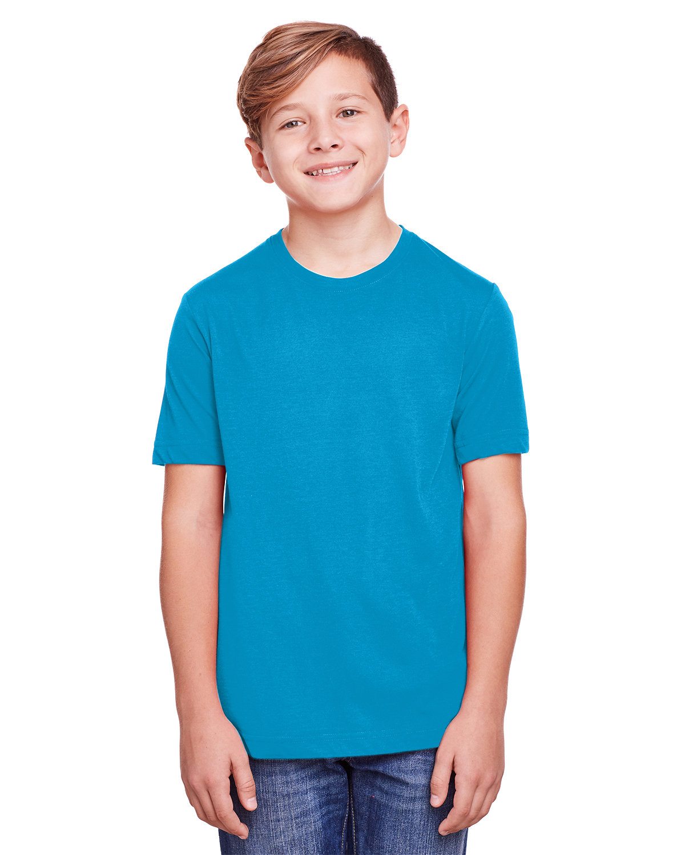 Core 365 Youth Fusion ChromaSoft Performance T-Shirt ELECTRIC BLUE