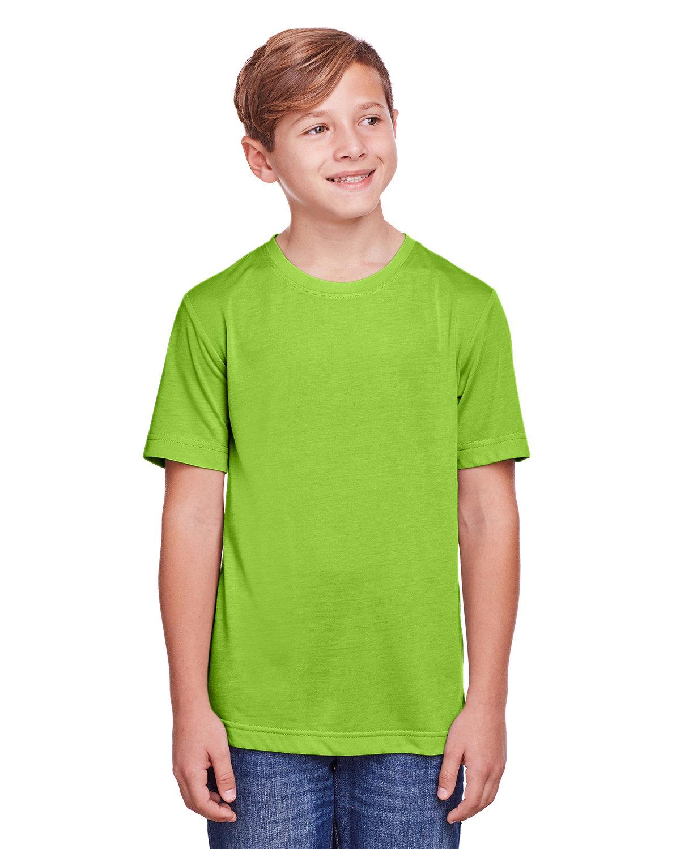 Core 365 Youth Fusion ChromaSoft Performance T-Shirt ACID GREEN