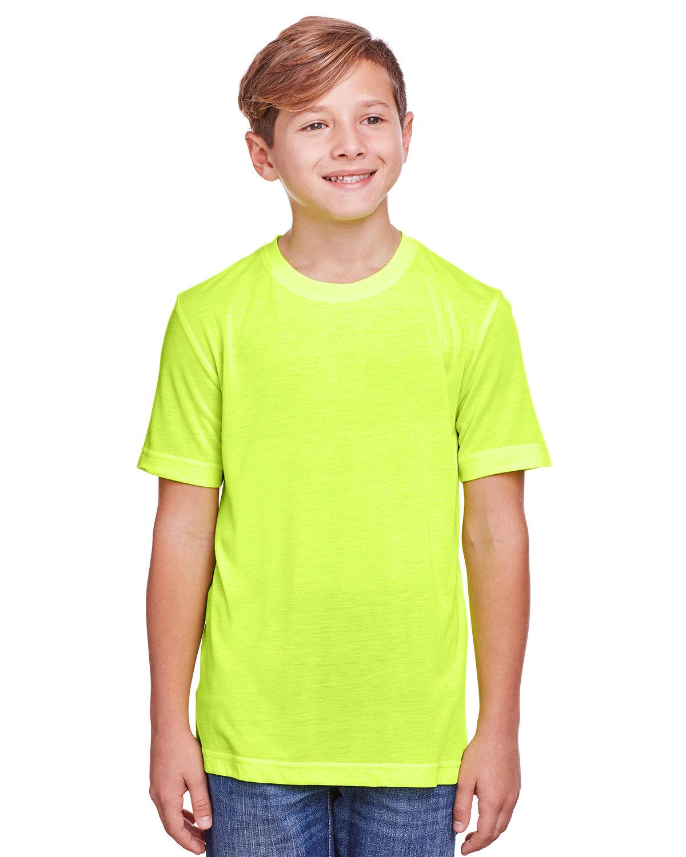 Core 365 Youth Fusion ChromaSoft Performance T-Shirt SAFETY YELLOW