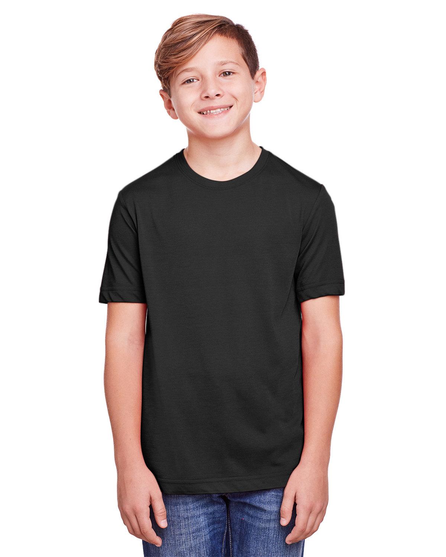 Core 365 Youth Fusion ChromaSoft Performance T-Shirt BLACK