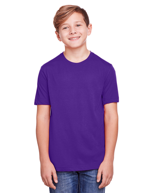 Core 365 Youth Fusion ChromaSoft Performance T-Shirt CAMPUS PURPLE