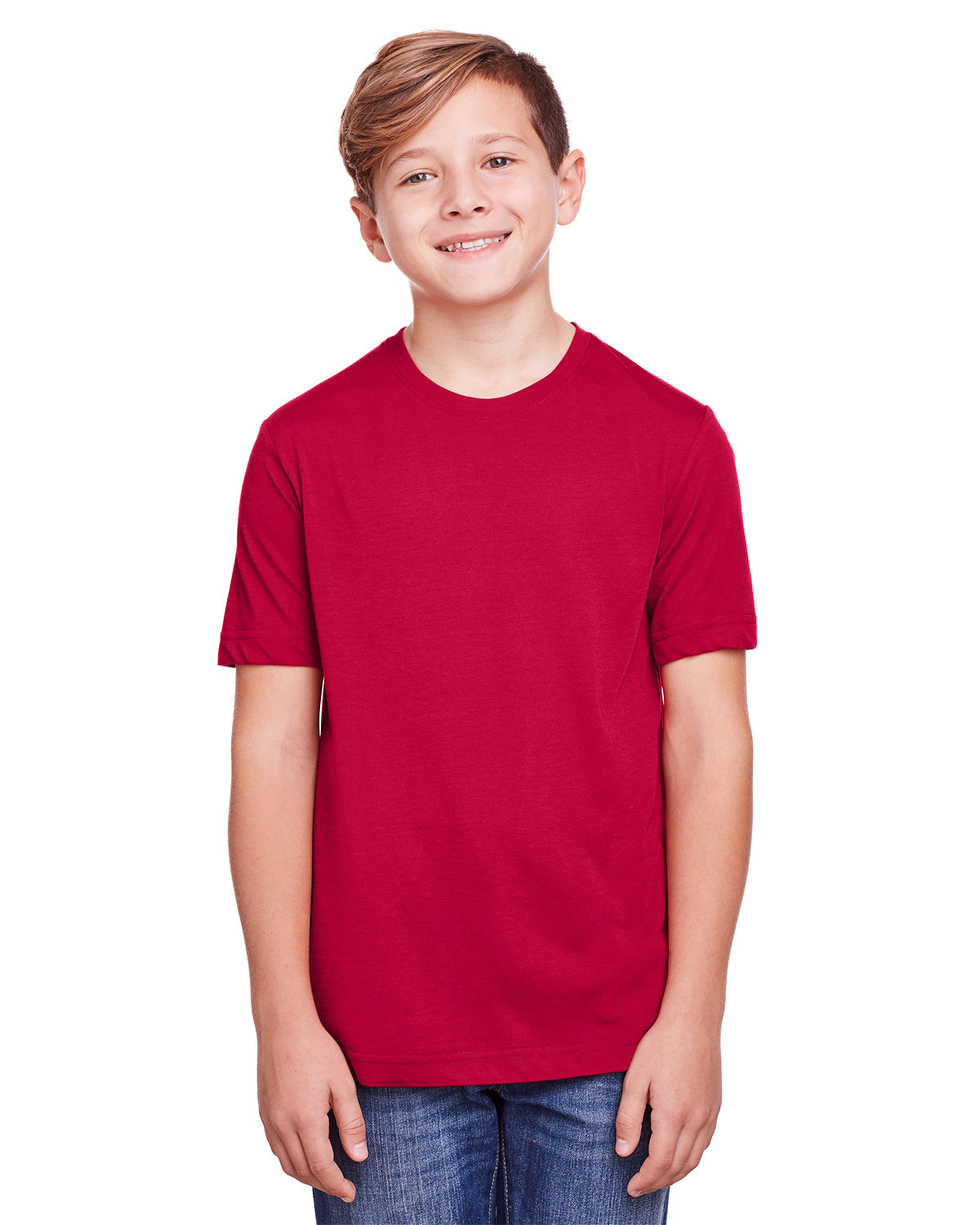 Core 365 Youth Fusion ChromaSoft Performance T-Shirt CLASSIC RED