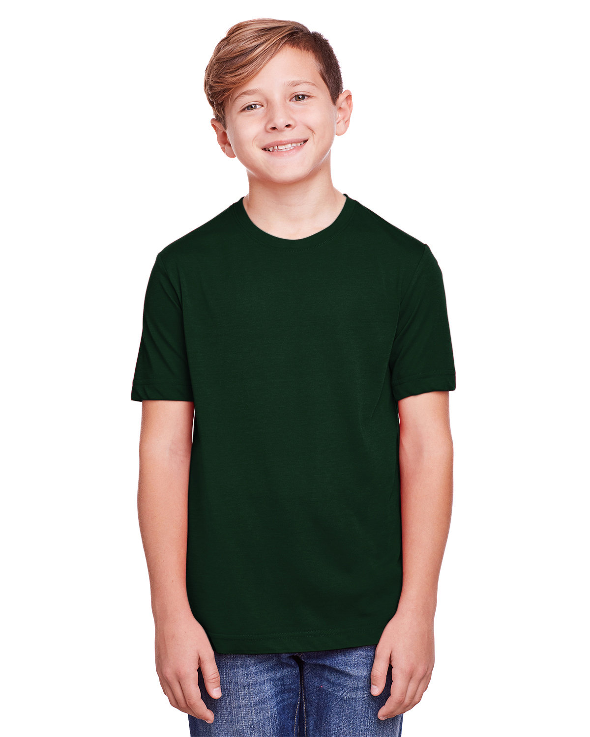 Core 365 Youth Fusion ChromaSoft Performance T-Shirt FOREST