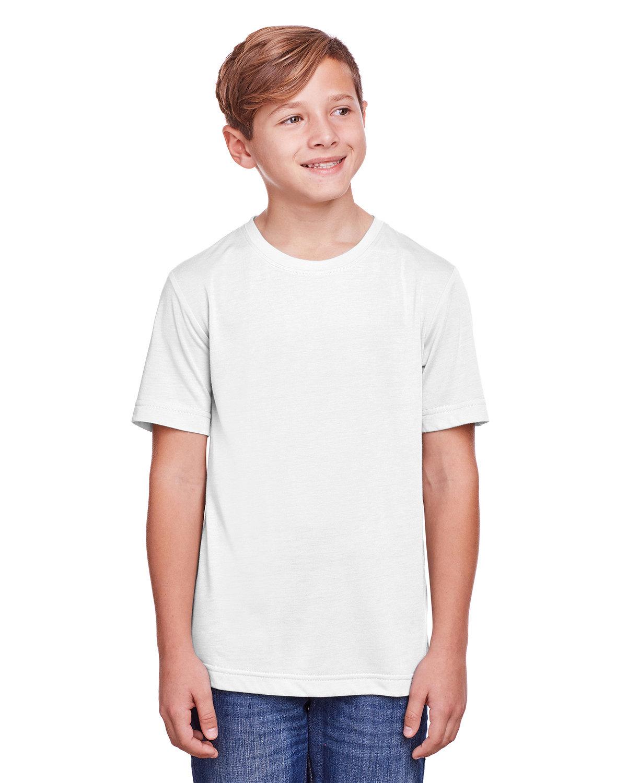Core 365 Youth Fusion ChromaSoft Performance T-Shirt WHITE
