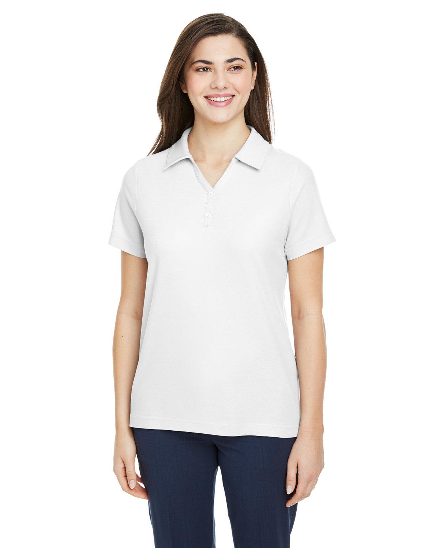 Core 365 Ladies' Fusion ChromaSoft™ Pique Polo WHITE